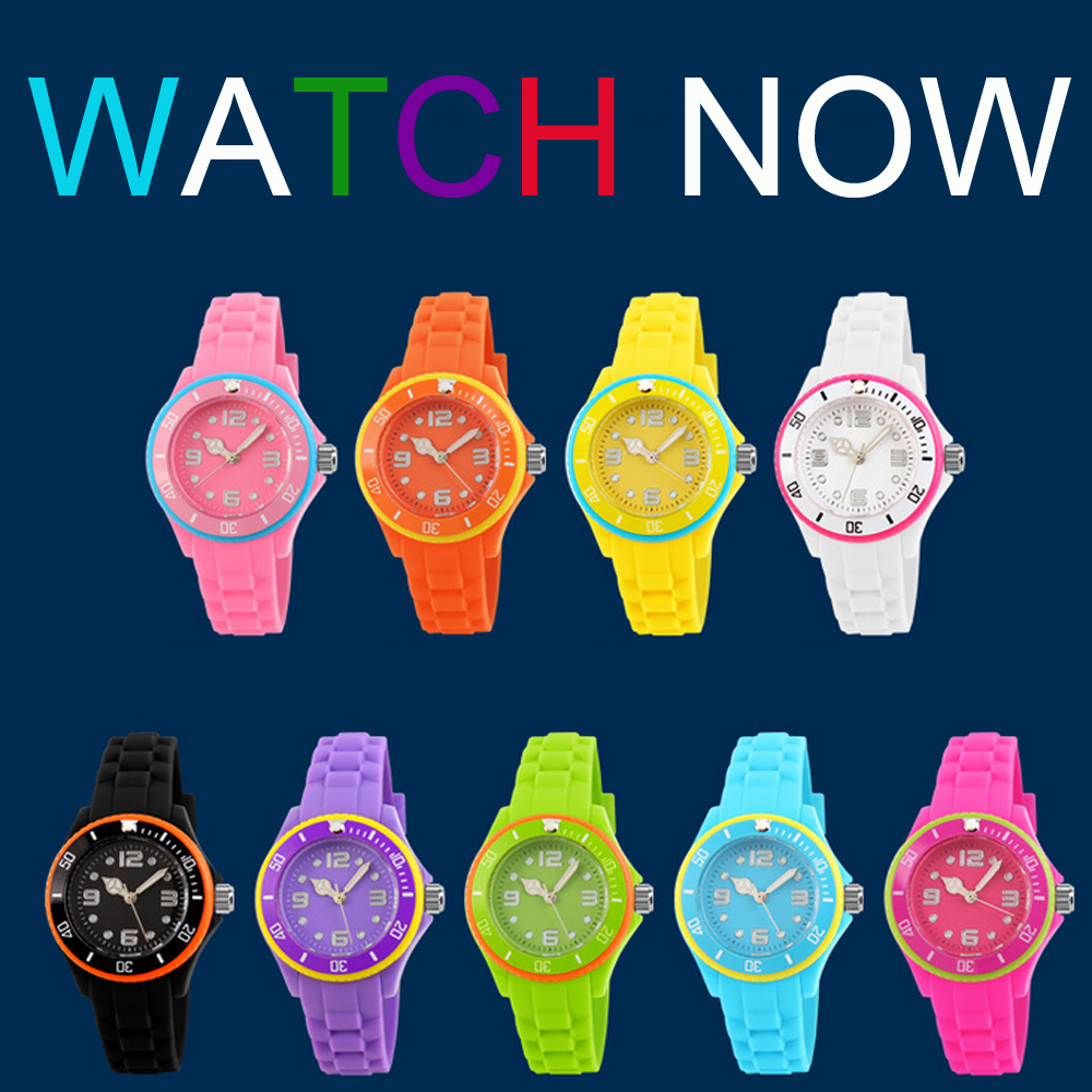 Silicone watch NT6330 color time watch me